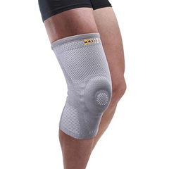 FNT24-9122 - Fabrication Enterprises - Uriel Genusil Rigid Knee Sleeve, Patella Support, Medium