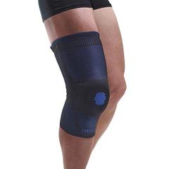 FNT24-9133 - Fabrication Enterprises - Uriel Genusil Rigid Knee Sleeve, Patella Support, Large, Blue