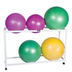 FNT30-1833 - Fabrication EnterprisesInflatable Exercise Ball - Accessory - PVC Stationary Floor Rack, 62 x 20 x 42, 2 Shelf
