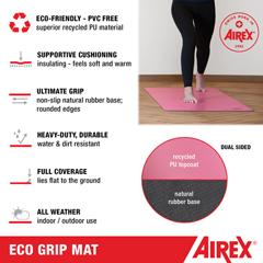 FNT32-1901 - Fabrication Enterprises - Airex Exercise Mat, Yoga ECO Grip, 72 x 24 x 0.16, Purple