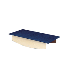 FNT32-2021 - Fabrication Enterprises - Rocker Board - Wooden with Carpet - Front-To-Back - 30 x 60 x 12