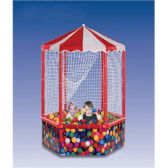 FNT32-2490 - Fabrication Enterprises - Sensory Ball Environment, 6 sided, 1,000 balls, with side structure/top