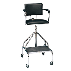 FNT42-1052 - Fabrication Enterprises - Adjustable high-boy whirlpool chair with belt, 3 casters
