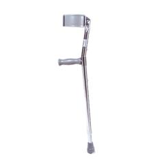 FNT43-2060 - Fabrication Enterprises - Forearm Adjustable Aluminum Crutch, Adult (5 0 - 6 2), 1 Pair