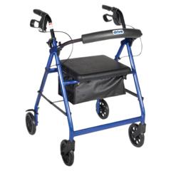 FNT43-2150 - Fabrication Enterprises4-Wheel Rollator with Loop Brake, Blue, 1 Each