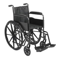 FNT43-2221 - Fabrication Enterprises16 Wheelchair with Fixed Arm, Swing Away Footrest