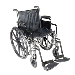 FNT43-2230 - Fabrication Enterprises - 16 Wheelchair with Removable Desk Armrest, Swing Away Footrest