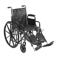 FNT43-2231 - Fabrication Enterprises - 16 Wheelchair with Removable Desk Armrest, Swing Away Elevating Leg Rest