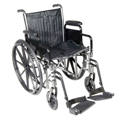 FNT43-2251 - Fabrication Enterprises18 Wheelchair with Fixed Arm, Swing Away Footrest