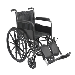 FNT43-2252 - Fabrication Enterprises18 Wheelchair with Fixed Arm, Swing Away Elevating Leg Rest