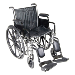 FNT43-2261 - Fabrication Enterprises18 Wheelchair with Detachable Desk Arm, Swing Away Elevating Leg Rest