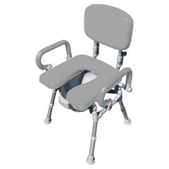 FNT43-2369 - Fabrication Enterprises - UltraCommode Foldable Commode Chair, Gray