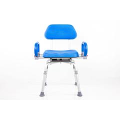 FNT43-2382 - Fabrication Enterprises - Revolution Pivoting Bath Shower Chair, Padded Backrest and Armrests