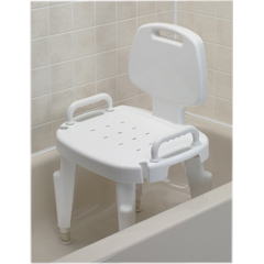 FNT45-2303 - Fabrication Enterprises - Adjustable Shower Seat with Arms and Back