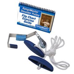 FNT50-1097 - Fabrication Enterprises - Rangemaster Molded Rubber Handle Shoulder Pulley (metal bracket)