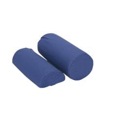 FNT50-1218 - Fabrication Enterprises - Roll Pillow - Half Round, with Removable Navy Blue Cotton/Poly Cover, 10.75 x 3