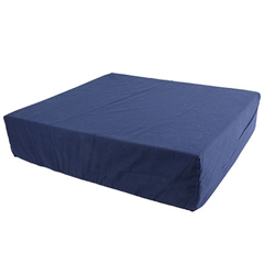 FNT50-1326 - Fabrication Enterprises - Wheelchair Cushion with Removable Cover, Foam, 16 x 18 x 3 Navy Color
