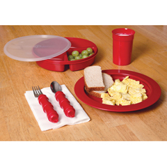 FNT62-0105 - Fabrication Enterprises - Redware Tableware Set - Deluxe