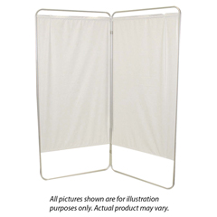 FNT65-0111W - Fabrication EnterprisesStandard 4-Panel Privacy Screen with Casters - White 6 mil Vinyl, 62 W x 68 H Extended, 19 W x 68 H x3.25 D Folded