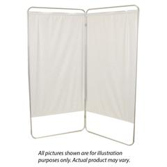 FNT65-0121W - Fabrication EnterprisesKing Size 3-Panel Privacy Screen - White 6 mil Vinyl, 85 W x 68 H Extended, 31 W x 68 H x2.5 D Folded