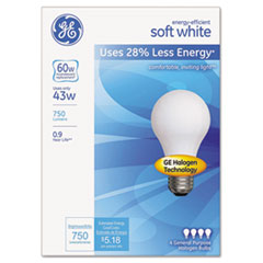 GEL66247 - GE Dimmable Halogen A-Line Bulb
