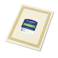 GEO21015 - Geographics® Certificates for Copiers, Laser and Inkjet Printers