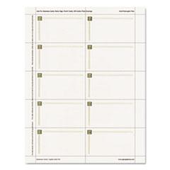 GEO47367S - Geographics® Capital Gold Foil Design Premium Business Cards