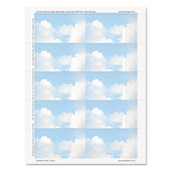GEO47372S - Geographics® Clouds Design Business Suite Business Cards