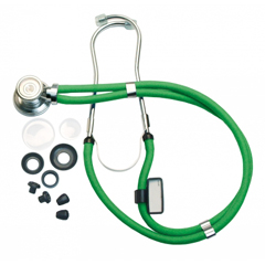 "GHI602N-GR - GF Health - 22"" Neon Series Sprague Rappaport-Type Stethoscope"