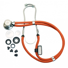 "GHI602N-OR - GF Health - 22"" Neon Series Sprague Rappaport-Type Stethoscope"