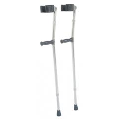 GHI6350T - GF Health - Aluminum Forearm Crutch, Tall, Gray, 33 - 42