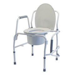 GHI6433A - GF Health - Lumex® Silver Collection Steel Drop Arm 3-in-1 Commode