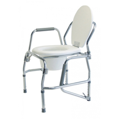 GHI6437A - GF HealthPlatinum Collection 3-in-1 Steel Padded Drop Arm Commode