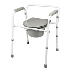 GHI7108R-1 - GF Health3-in-1 Steel Folding Commode