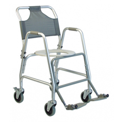 GHI7915A-1 - GF HealthDeluxe Shower Transport Chair with Footrests
