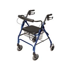 GHIRJ4300B - GF HealthLumex® Walkabout Lite Four-Wheel Rollator, Blue