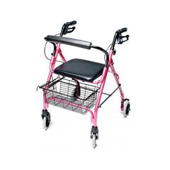 GHIRJ4300P - GF HealthLumex® Walkabout Lite Four-Wheel Rollator, Pink