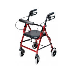 GHIRJ4301R - GF HealthLumex® Walkabout Lite Junior Rollator, Burgundy