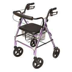 GHIRJ4805L - GF Health - Walkabout Four-Wheel Contour Deluxe Rollator