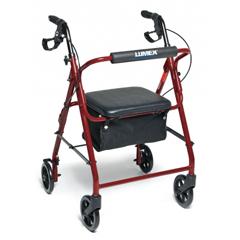 GHIRJ4900R - GF Health - Walkabout Basic Four-Wheel Rollator