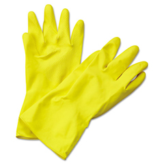 BWK242XL - Flock-Lined Latex Cleaning Gloves - X Large