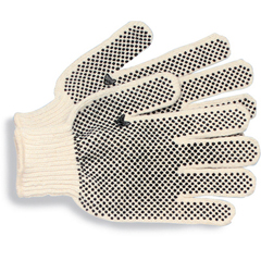 BWK792 - PVC-Dotted String Knit Utility Gloves - Large