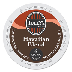 GMT6606 - Tullys Coffee Hawaiian Blend Coffee K-Cups