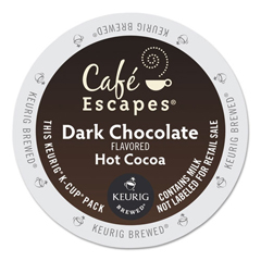 GMT6802 - Cafe Escapes Dark Chocolate Hot Cocoa K-Cups