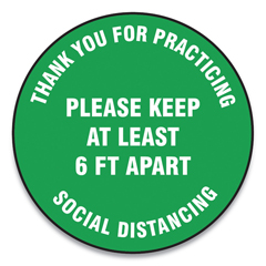 GN1MFS424ESP - Accuform® Slip-Gard™ Social Distance Floor Signs