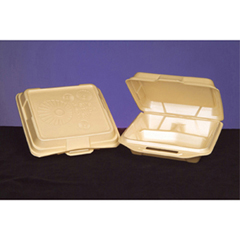 GNP20310-13 - Foam Hinged Carryout Containers