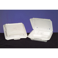 GNP20310-COD - Foam Hinged Carryout Containers