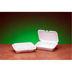 GNP20400 - Foam Hinged Carryout Containers