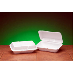 GNP21900 - Foam Hinged Carryout Containers