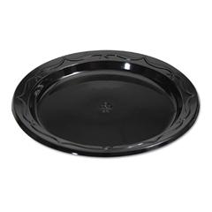GNPBLK06 - Silhouette Black Plastic Dinnerware